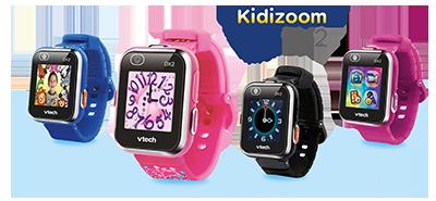 Présentation des montres Kidizoom smart watch DX2 et ses différents coloris