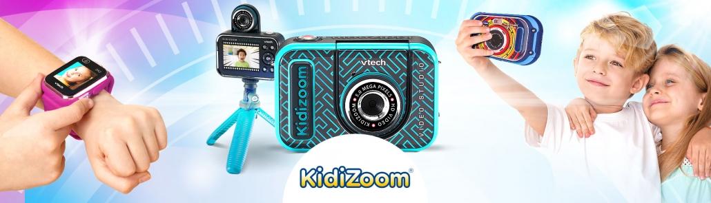Présentation des jouets de la marque Kidizoom : appareils photo et montres pour enfants