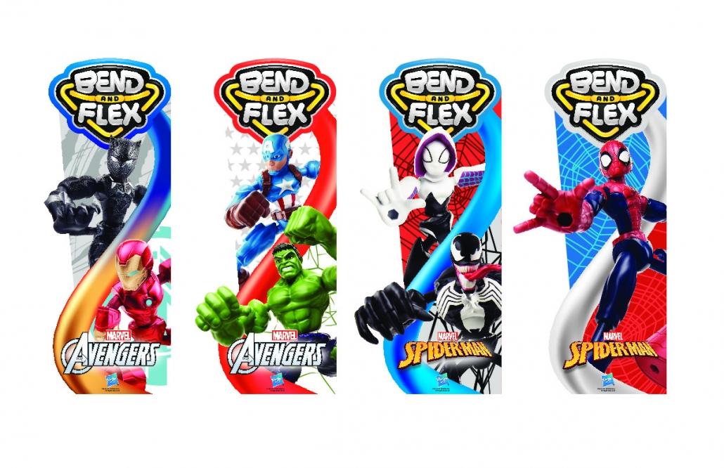 Figurine Bend & Flex Spider-Man et Avengers