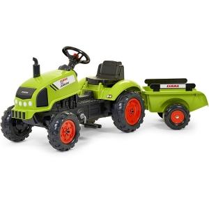 Tracteur à pédales Claas avec remorque et capot ouvrant King Jouet